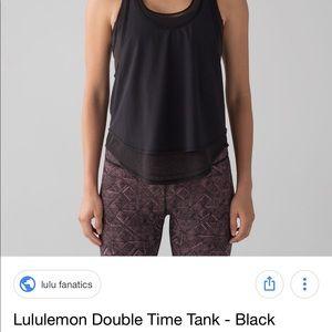 bd34c605e370f lululemon athletica Tops - Lululemon double time tank